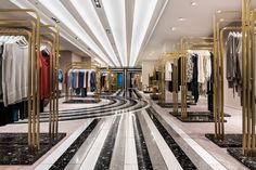 India Mahdavi used shades of quartz to create geometric floor patterns in Berlin department store KaDaWe.