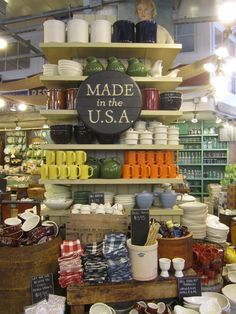 MADE IN USA <3 (@ Fishes Eddy - NYC) Fruit And Veg Shop, Nyc, Big Design, Pop Up Shops, Made In America, Store Fronts, Visual Merchandising, Vintage Kitchen, Dishes