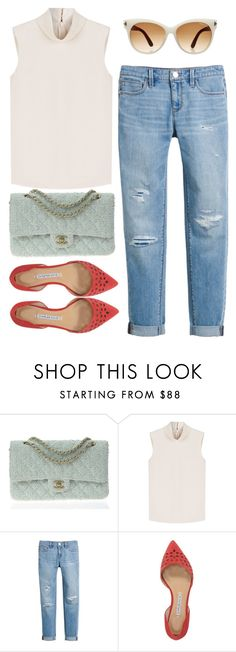 """""""Без названия #86"""" by darina-kozlova ❤ liked on Polyvore featuring Chanel, RED Valentino, White House Black Market, Charles David and Tom Ford"""