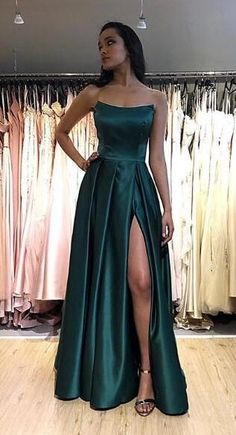 Simple Long Sexy Side Slit Prom Dresses Custom Made Long Strapless Evening Gowns. Simple Long Sexy Side Slit Prom Dresses Custom Made Long Strapless Evening Gowns Fashion Long School Dance Dresses Pagent Dresses Pretty Prom Dresses, Hoco Dresses, Elegant Dresses, Homecoming Dresses, Cute Dresses, Girls Dresses, Sexy Dresses, Summer Dresses, Wedding Dresses