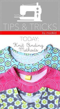 GREAT tutorial for knit binding methods. #iloverileyblake #fabricismyfun
