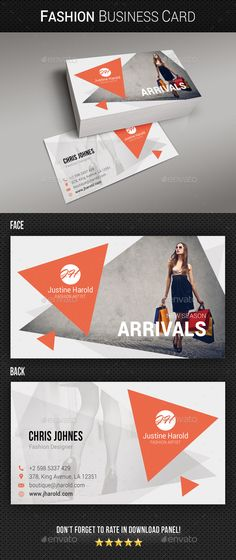 Fashion Business Card Template PSD