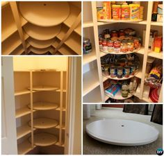 Lazy Susan Pantry Shelves Tower Storage Diy Video Tutorial And