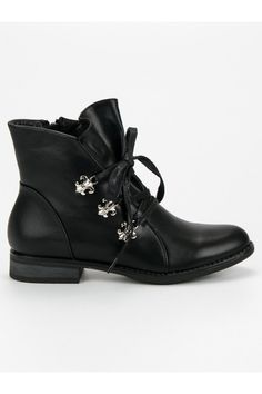 Čierne topánky na plochom podpätku Weide Winter Outfits, Biker, Oxford Shoes, Adidas, Womens Fashion, Stuff To Buy, Inspiration, Winter Time, Boots