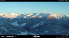 La #ValdiSole in #Trentino.  #Panorama dalle #piste di #Folgarida #Marilleva nella #Skiarea #Campiglio #Dolomiti di #Brenta.