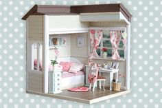 Handmade Dollhouse Diorama 1:6 Pullip Blythe by DollboxStore