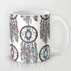 gemstone dreamcatcher Mug #society6 #dreamcatcher #home #feather #bling #gem #gemstones #illustration #art #cute #crystal #kitchen #mug on other products too