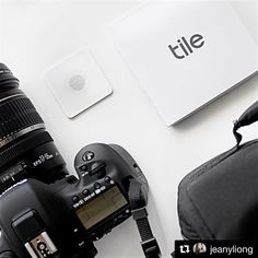 Great picture from a customer in the AU! #Repost @jeanyliong  Slipping Tile Slim in my small camera bag. Tracking item made easy especially someone as clumsy as me.  #tiledit #tileslim #tiledit  www.thetileapp.com