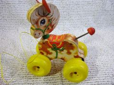 Vintage Fisher Price Prancy Pony Pull Toy from by morembwstuff, $14.99