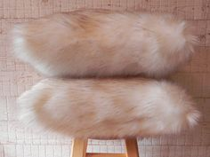 Fox Faux Fur PillowSoft Quality FurThrow PillowHome by OwnYourLeaf