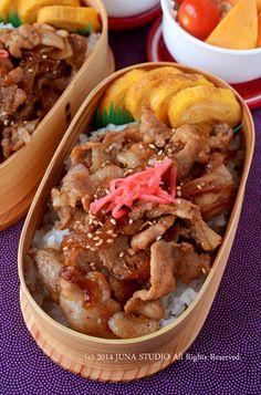 Grilled Pork Bento with Red Pickled Ginger