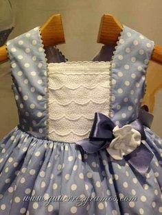 Gutiérrez y Ramos Moda infantil~~saved for inspiration for dresses for my grand daughters. Little Girl Outfits, Little Girl Dresses, Kids Outfits, Baby Girl Dresses, Baby Dress, Toddler Dress, Toddler Girl, Toddler Fashion, Kids Fashion