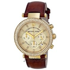 Michael Kors Chronograph Gold Dial Diamond set Ladies Watch MK2249 $207.95