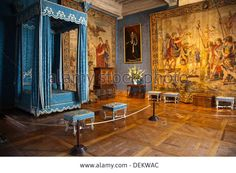 The bedroom of Queen Maria Theresa of France, the first wife of Louis XIV, in Chateau de Chambord in the Loire Valley of France