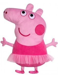 Peppa Pig Ballerina Embroidered Shaped Cushion