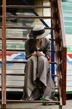 Michelle Dockery as Mary Crawley.