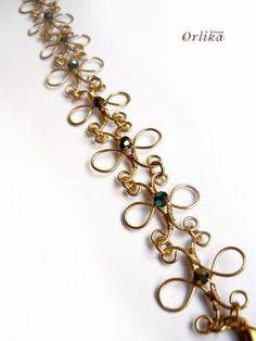 Wire Wrapped bracelet via Etsy by miky70