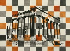 Philip Tsiaras, Parthenon series - Chessboard Parthenon, Artist Gallery, Crete, Painters, Artists, Fine Art, Artist, Visual Arts