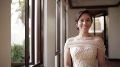 Preps: Thunderbird Resort Rizal Ceremony and Reception: East Ridge Golf Club HMUA: Jeff Pahn Photographer: Randolf Evan Bridal Couture: Elizabeth Hallie Vy Bouquet… Wedding Videos, One Shoulder Wedding Dress, Reception, Couture, Bridal, Wedding Dresses, Fashion, Bride Dresses, Moda