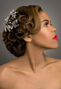 Sparkle over curls! Love!