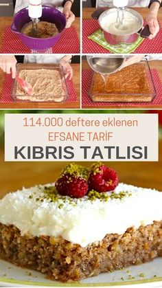 Kıbrıs Tatlısı – Binlerce üyenin defterinde olan yüzlerce kez denenmiş ga… Cyprus Dessert – Guaranteed flavor that has been tried hundreds of times in the book of thousands of members 🙂 recipes # Kıbrıstatlı of # Kolaytatl of Food Cakes, Red Wine Gravy, Dessert Oreo, Gula, Flaky Pastry, Mince Pies, Turkish Recipes, Sweet Desserts, Food Videos