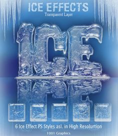 3D Ice Effect PS Styles