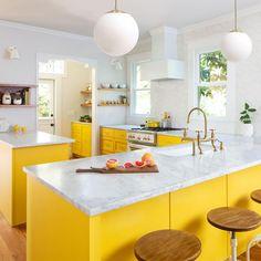 90 Creative Colorful Apartment Decor Ideas And Remodel for Summer Project 43 – Home Design Home Design Diy, Küchen Design, Interior Design Kitchen, House Design, Design Trends, Interior Decorating, Decorating Ideas, Design Ideas, Bright Kitchens