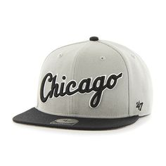 12ef2b665ca Chicago White Sox Script Side Two Tone Captain Gray 47 Brand Adjustable Hat
