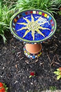 Image result for Mosaic Bird Bath Patterns