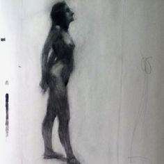 Tonal study of model by BUA #ART #DRAWING