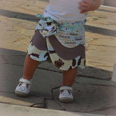"The ""Ruby"" Reversible Wrap Skirt, Girl PDF Sewing Pattern, Fabric Flower Pattern. $6.50, via Etsy."