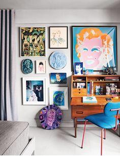 Bedroom of artist/designer Doug Meyer.