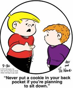 I used to make scrapbooks with The Family Circus comics.....