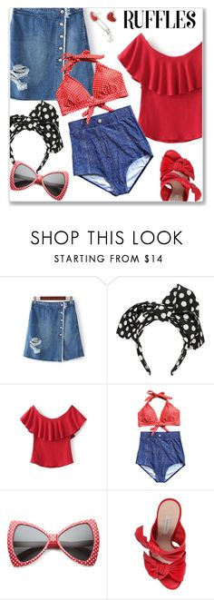 """""""Summer Vacation"""" by jecakns ❤ liked on Polyvore featuring Dolce&Gabbana, ZeroUV, Casadei and vintage"""