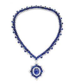Van Cleef & Arpels Sapphire and Diamond Necklace