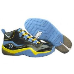 Nike Zoom Phenom Basketball Shoes Black Blue Yellow