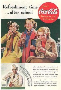 Coca-Cola After School 1937 - www.MadMenArt.com | Coca-Cola is more than a brand…