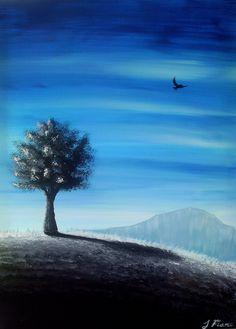 Believe - Original medium acrylic landscape painting - Fine Art. $60.00, via Etsy.