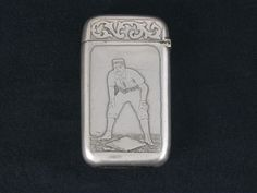 Antique 19th Century Pairpoint MFG Co. Silver Baseball Player Match Safe Vesta in Antiques   eBay