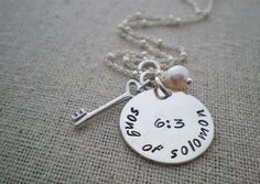 would love this with galatians 6:9 ...personalized scripture necklace with charms  by malisaydesigns, $44.00
