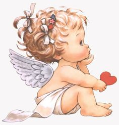 Little Angel ¦ Ruth Morehead Angel Pictures, Cute Pictures, Baby Engel, Tattoos Familie, Art Mignon, Mosaic Pictures, Cross Paintings, Angel Art, Cute Illustration