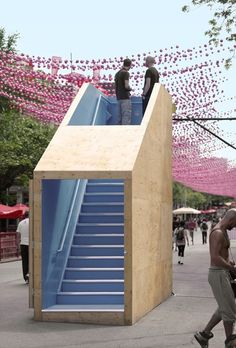 Gallery of Annual Creative Spaces Event - 8 Temporary Architecture, Landscape Architecture, Architecture Design, Urban Furniture, Street Furniture, Urban Landscape, Landscape Design, Urban Intervention, Temporary Structures