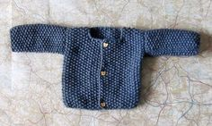 Hand Knitted Baby Boy Jacket French Style by HandKnittedYorkshire