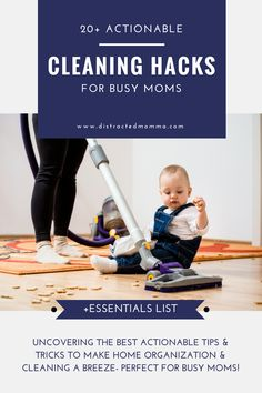 What could be better than some super effective home organization hacks and cleaning tips for busy moms?