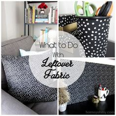 What to do with leftover fabric..cute! #fabric