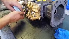 When your pressure washer starts losing pressure, you might want to look into replacing the oil/water seals in your pump.