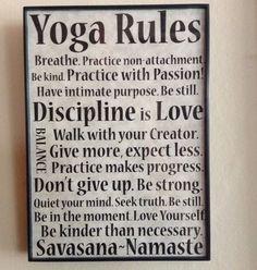 """""""Yoga Rules"""" Inspirational/Motivational Sign For Studio/Home Decor *SPECIAL #Handmade"""
