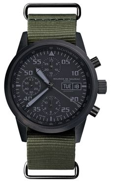 Chronograph Modern Swiss made watch. See our website for more details: http://www.mauricedemauriac.ch/home.php