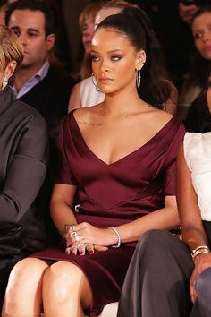 "Rihanna attending ""Zac Posen"" Fashion Show in New York. (16th February 2015)Robyn Rihanna Fenty"