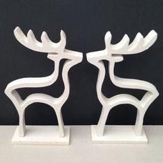 Christmas White Reindeer Decoration - christmas